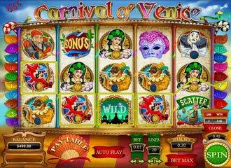 machine à sous vidéo Carnaval de Venise
