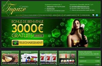 Logiciel Topaze Casino